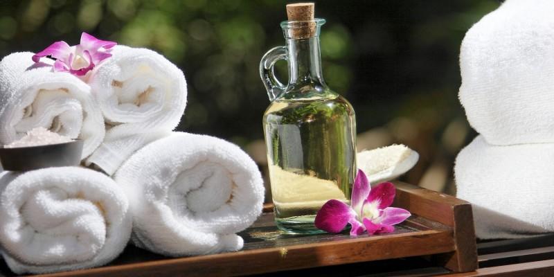 Entspannung im Massageraum