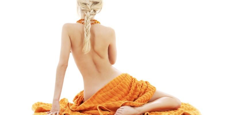 Frau nach einer Massage